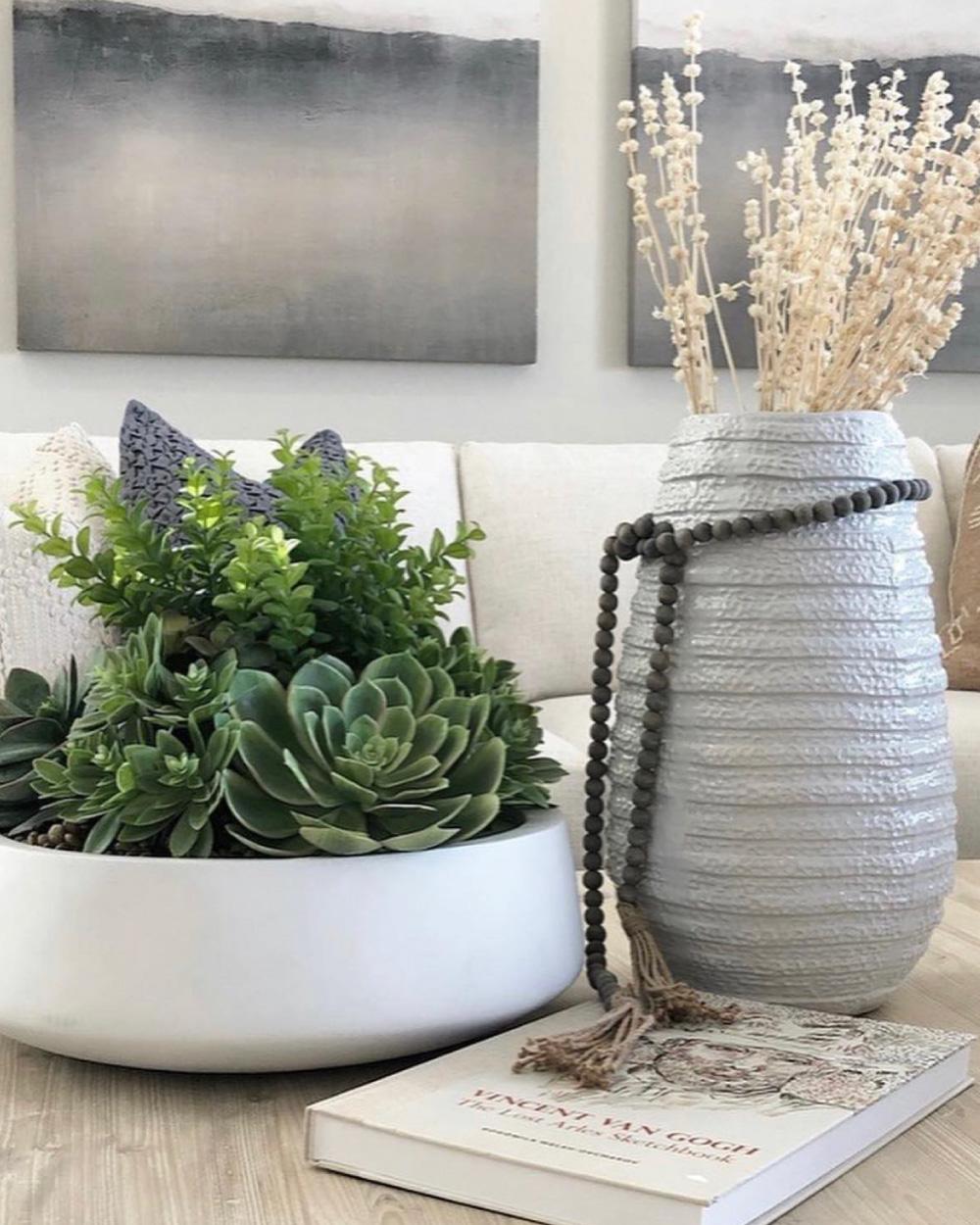 Silk succulent arrangement